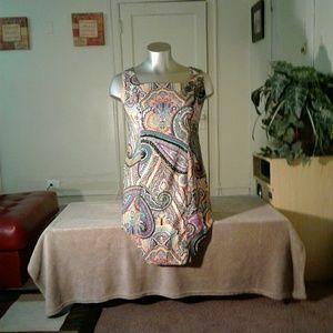 Dress Barn Multicolored Midi Dress